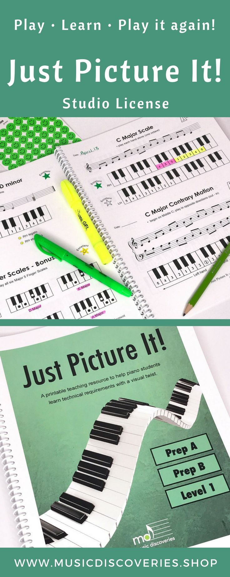 Private Studio License printable download for teaching technical requirements with a visual twist.