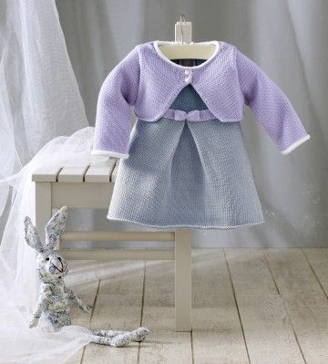 tuto tricot robe et brassière