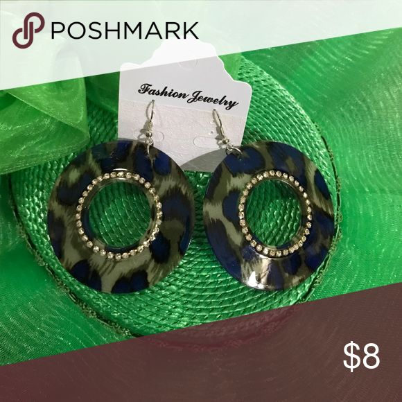 NWT! Boho Chic Animal Print Earrings and BLING! NWT! Boho Chic Animal Print Earrings and BLING!💍 great stocking stuffers... make an offer Jewelry Earrings