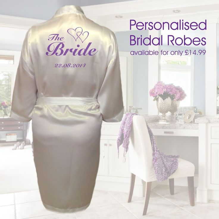 Personalised Heart Wedding Robe & Dressing Gown | Brides and the Bridal Party