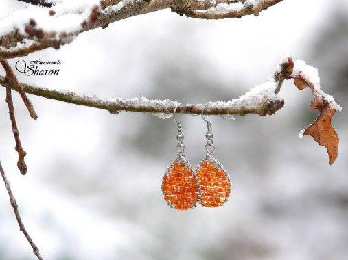 Sharon.handmade / Vypletané slzy (oranžová)