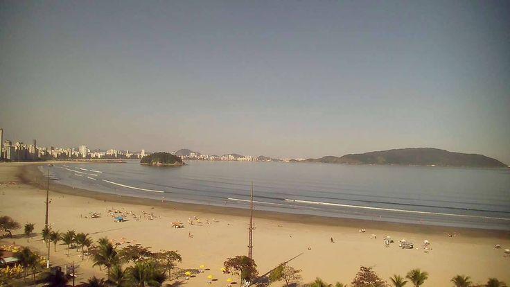 Camera ao vivo - Praia do Itararé - São Vicente (SP)