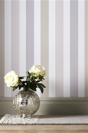 Banded stripe natural wallpaper home paint wallpaper for Wallpaper next home