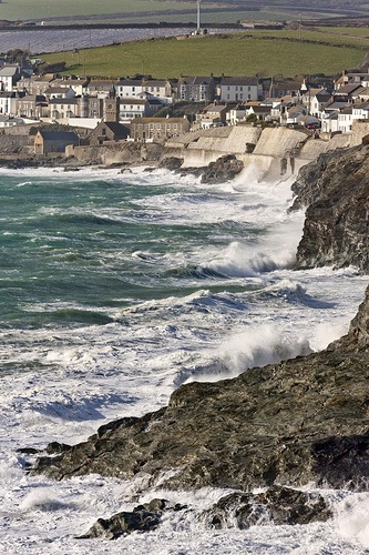 """Coastal Erosion, *Porthleven, Southwest Cornwall, England*""  