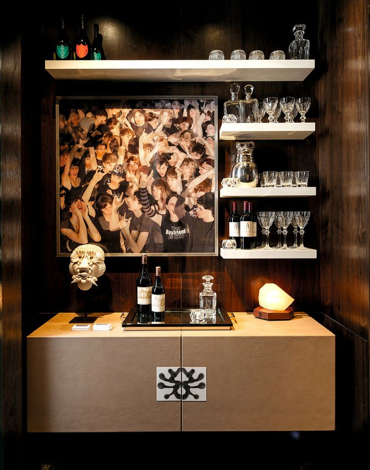 leather bar by Dineen Architecture + Design PC