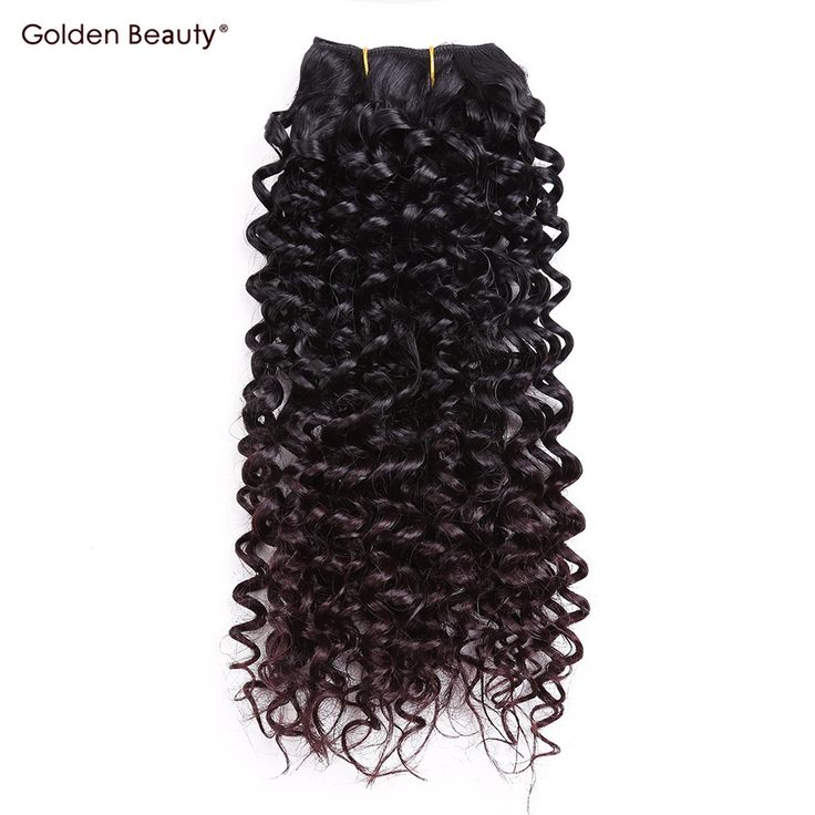 Jerry Curl Weave Ombre Synthetic Braiding Hair Sew in Hair Extensions Weft 2pcs/pack 8inch 14inch Golden Beauty