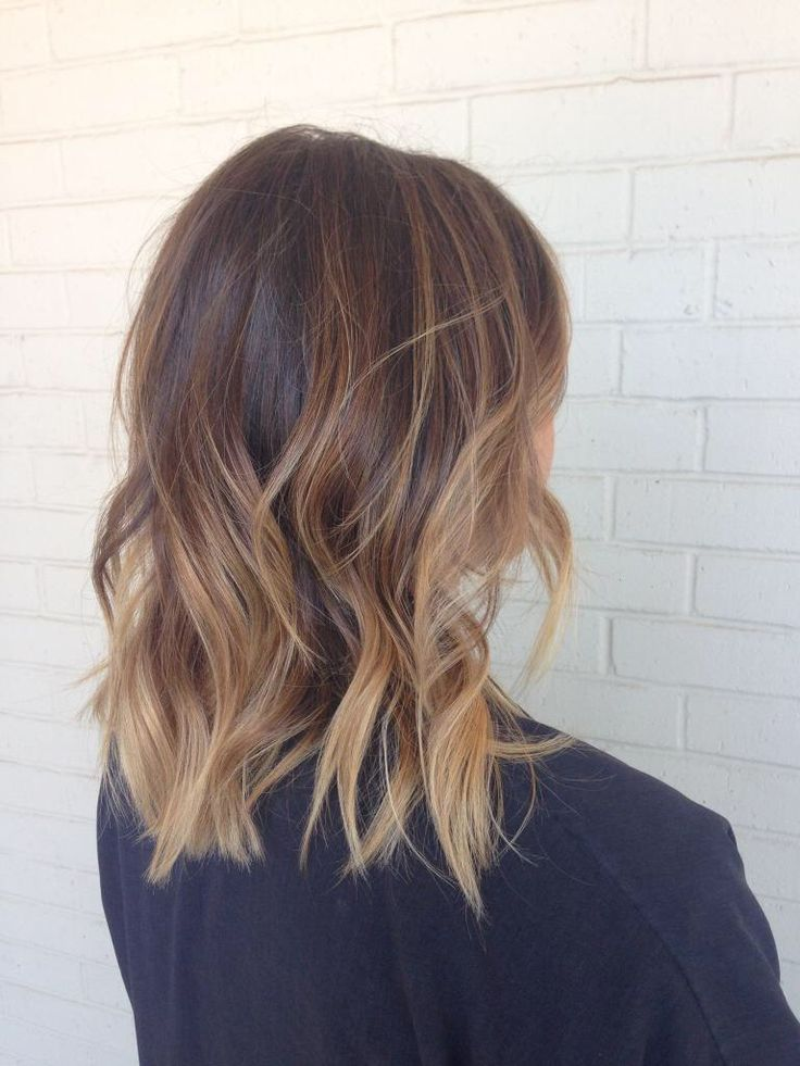 I finally have Pinterest hair! She did such a great job blending the ends with m…