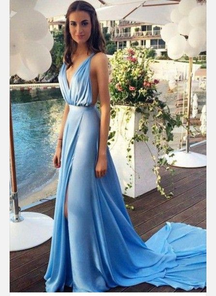 Image result for sky blue grecian gown