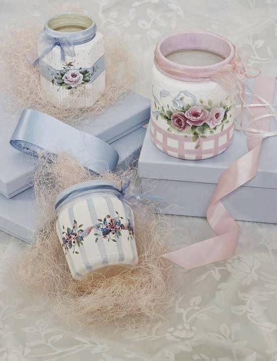 Vidros decorados * Potes decorados - Blog Pitacos e Achados - Acesse: https://pitacoseachados.wordpress.com – https://www.facebook.com/pitacoseachados – https://plus.google.com/+PitacosAchados-dicas-e-pitacos https://www.h2h.com.br/conselheirapitacosachados #pitacoseachados