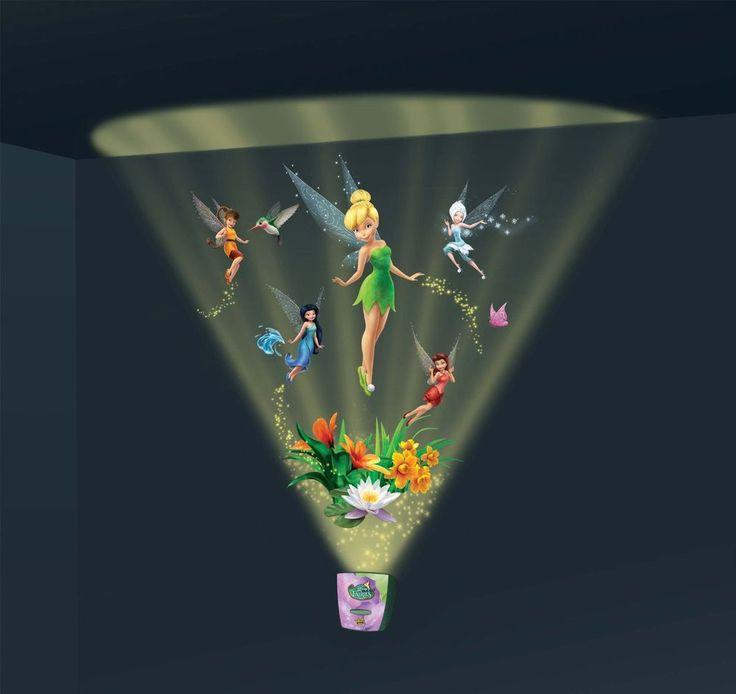 Tinker Bell Fairies Night Light Lite Sound Room Decor Kids Bedroom FREE SHIPPING