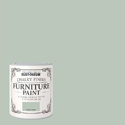Laurel Green 125ml tester pot £4.50 750ml large £13 Rust-oleum Chalk Chalky Furniture paint No priming or sanding is necessary on most surfaces, simply ensure surfaces are smooth, dry and free from contaminants.