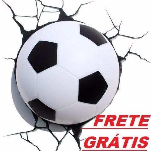 Luminária Quarto Criança Led 3d Bola De Futebol Frete Grátis