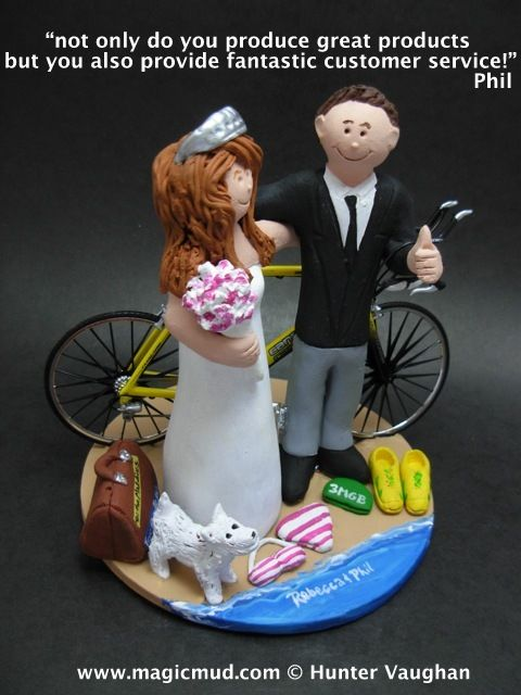 Phil in UK Wedding Cake Topper by http://www.magicmud.com   1 800 231 9814  magicmud@magicmud.com  http://blog.magicmud.com  https://twitter.com/caketoppers         https://www.facebook.com/PersonalizedWeddingCakeToppers  #bicycle#bike#cyclist#mountain_bike#wedding #cake #toppers  #custom #personalized #Groom #bride #anniversary #birthday#weddingcaketoppers#cake toppers#figurine#gift#wedding cake toppers