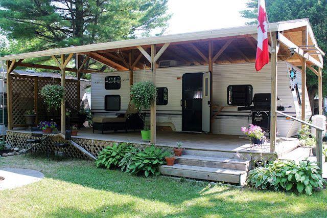 Portable Building A Deck : Best camper deck ideas images on pinterest campers