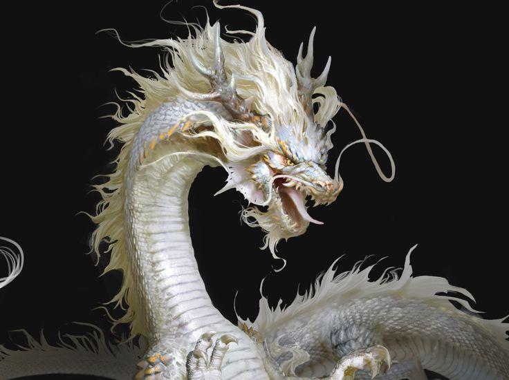 белый дракон из сказки фото