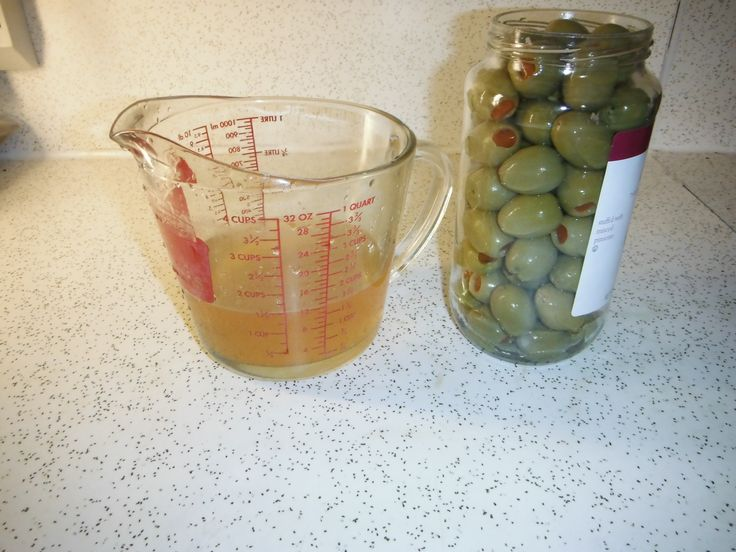 Enough olives for dozens of martinis, but only enough brine for 3-4. How do we solve this?