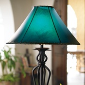 Rawhide Lamp Shades...love the color of this shade