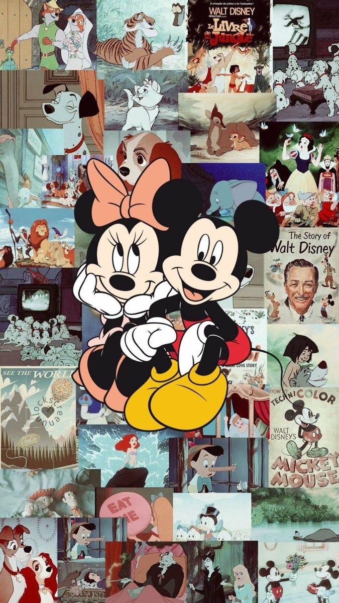 Lovers of aesthetic in 2020 Disney wallpaper, Mickey