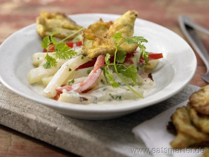 Gebratene Austernpilze mit Gemüse-Ragout und Kräutern | Fried Oyster Mushrooms with Veggie Ragout & Herbs (in german)