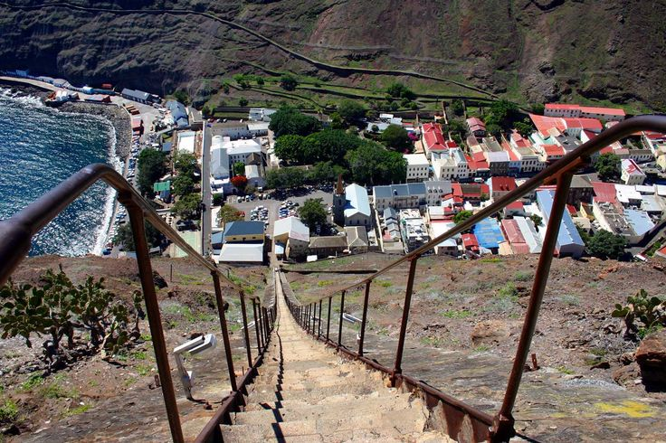 Jacob's Ladder, from the top looking down upon Jamestown [Saint Helena Island Info:Jacob's Ladder]
