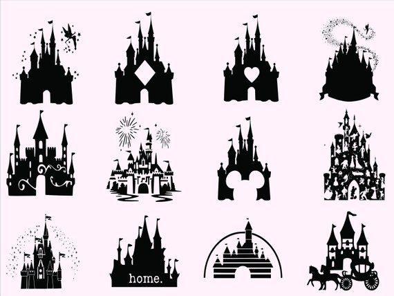 Instant Download Digital File No Physical Product Will Be Sent What S Included Once Your Order Is Placed Y Disney Silhouettes Disney Castle Disney Font Free