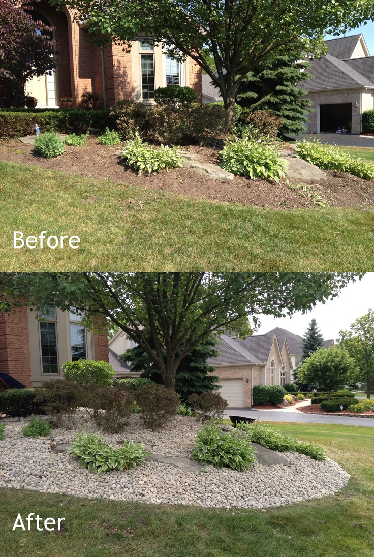 14 best images about before and after landscaping on for Affordable garden services