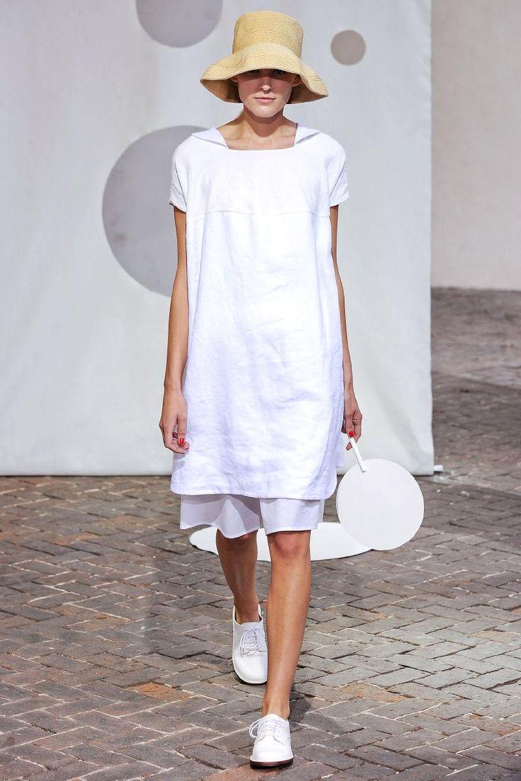 Oversized short sleeve tunic over dress by Daniela Gregis 2014