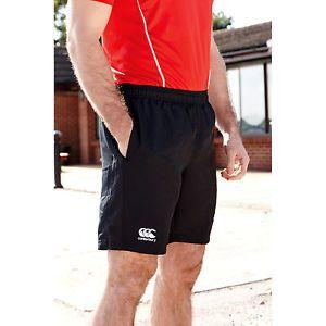 a canterbury para hombres equipo pantalones cortos deportes gym correr rugby termica de futbol negro nuevo