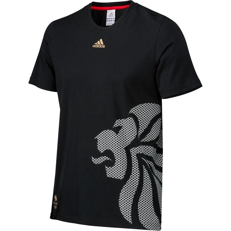 Hommes Team GB Lion Head Tee, Black