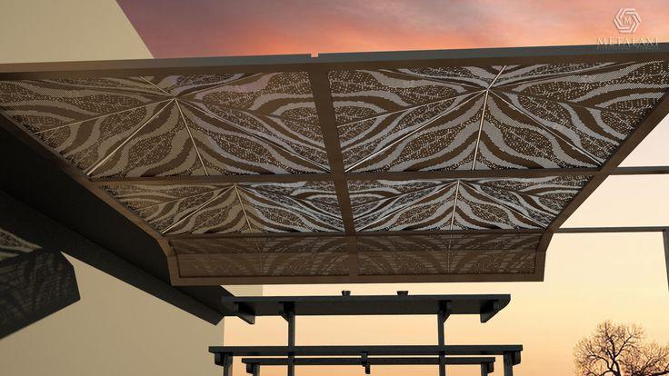 Aluminum pergola designed by ''METALAXI'' / Πέργκολα αλουμινίου σχεδιασμένη από την '''METALAXI''