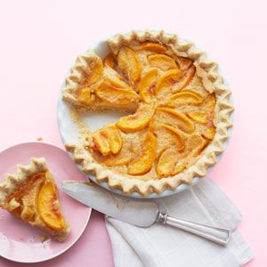 Grammy's Peach Custard Pie...this could definitely be done gluten- and dairy-free.