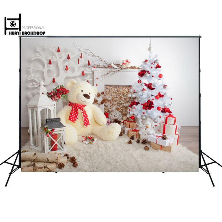 Christmas Backdrop Christmas Wall Decoration Backdrop Newborn Baby Children toy Bear photo props D-3356