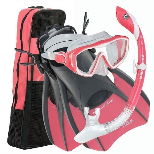 U.S. Divers Diva Ladies' Travel Snorkel Set Pink Or Purple