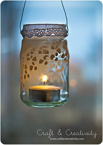 DIY Glass lantern