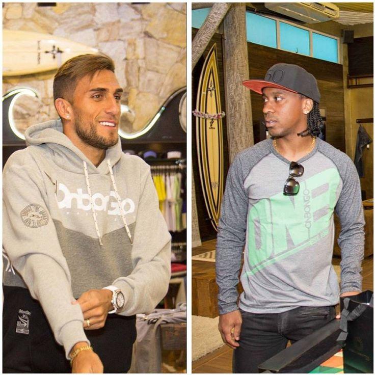 Visita dos jogadores Rafael Marques e Arouca ( @sepalmeiras ) ao nosso showroom. #Onbongo #showroom #jogadores #futebol #AlwaysAhead ⚡  http://instagram.com/Onbongo