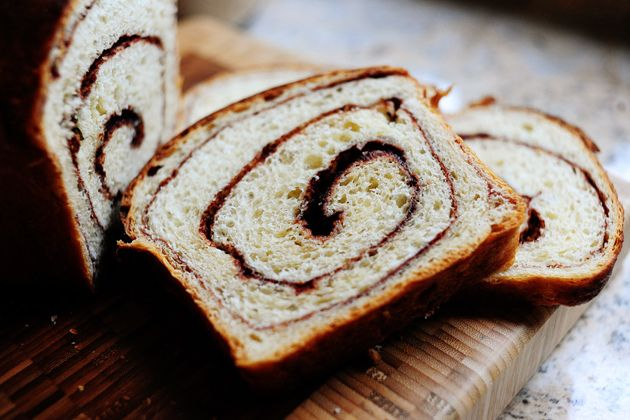 Pioneer Woman's Homemade Cinnamon bread - needs 4 hours rising, plus mixing, plus baking time.