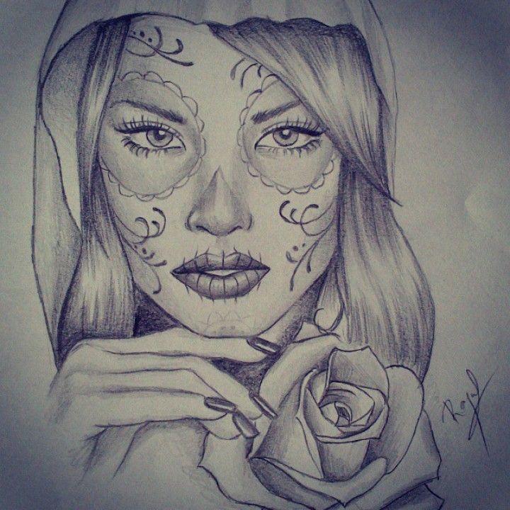Catrina #art #artfido #artwork #daily_art #draw #drawing #dibujo #tattoo #tattooart #tattoing #sketch #rosestattoo #boceto