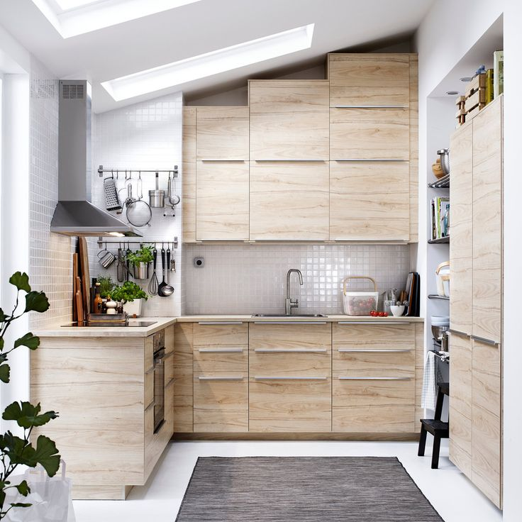 Askersund Ash top and bottom -- It's too much. Prefer different top and bottom cabinets