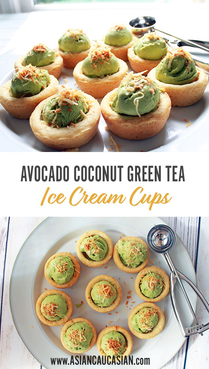 Avocado Coconut Green Tea Ice Cream Cups