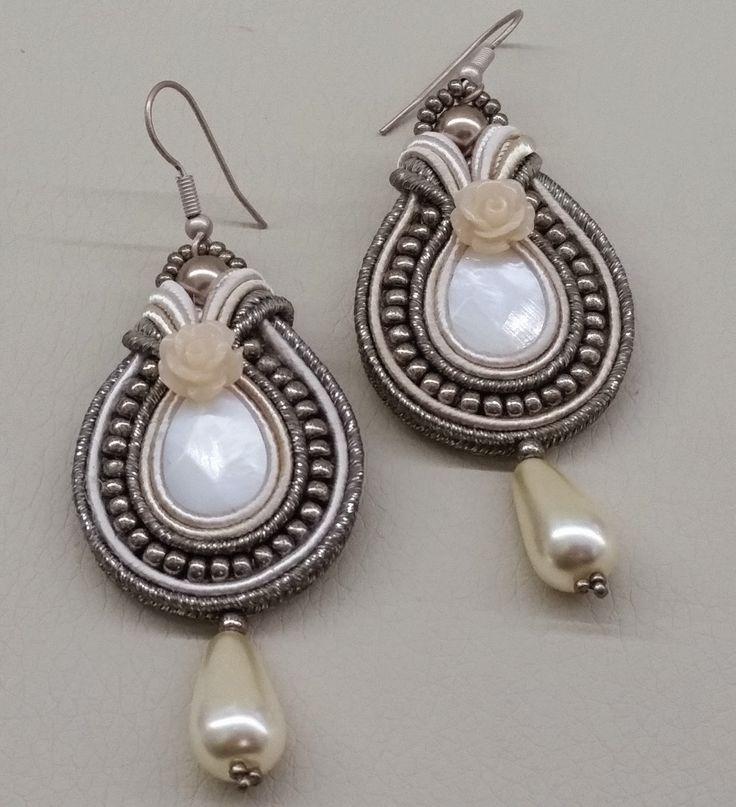 i bijoux di rosestorm...hand made with love: parure soutache avorio e bronzo