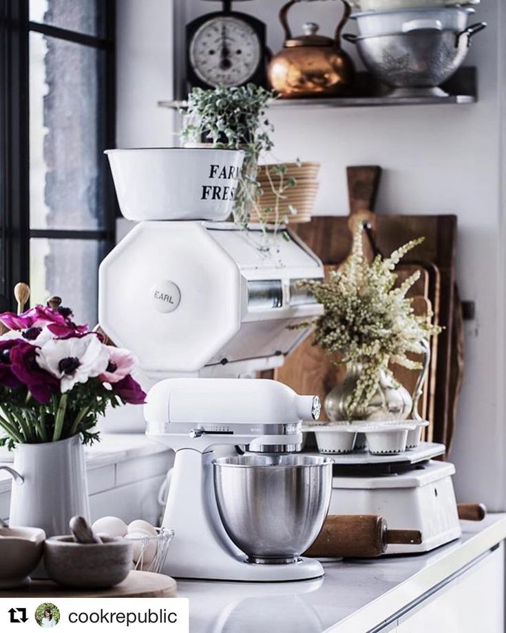 "221 Likes, 21 Comments - KitchenAid Australia & NZ (@kitchenaidausnz) on Instagram: ""At KitchenAid we love our colours, after all we have so many! But sometimes a white stand mixer…"""