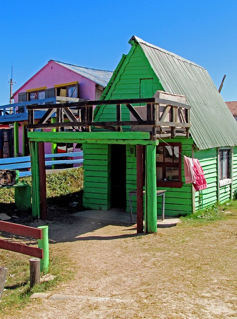 Hippie houses on the beach! Punta del Diablo, Uruguay