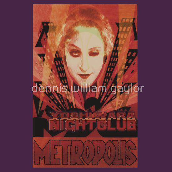METROPOLIS - Yoshiwara Nightclub - custom illustrated posters, prints, tees. Unique bespoke designs by dennis william gaylor .:: watersoluble ::.