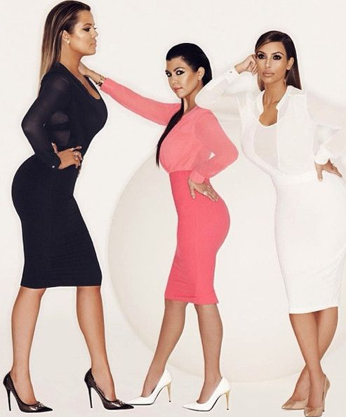 The Kardashian girls are all about their curves.