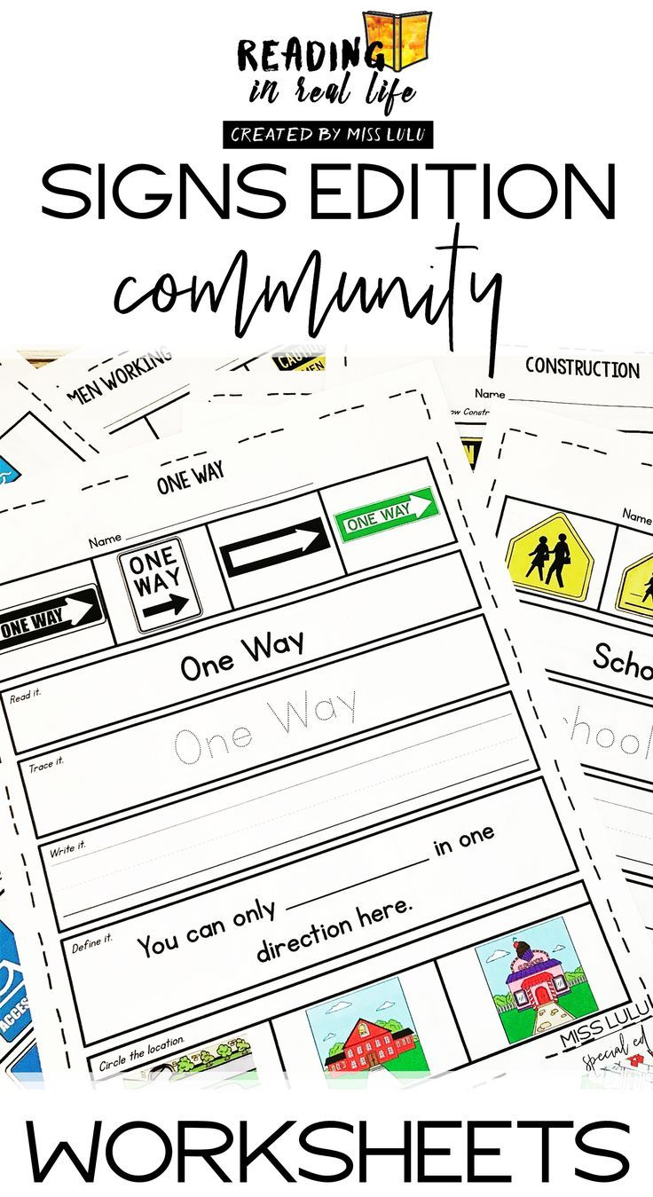 Community Signs Worksheets Reading In Real Life Community Signs Special Education Students Teaching Special Education [ 1349 x 736 Pixel ]