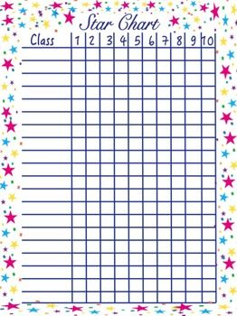 Star Behavior Chart for Related Arts Teachers/Specialists