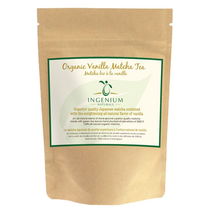 An all natural and organic Vanilla Matcha Tea. Add it to a smoothie or drink whisked with milk or water. Never disappoints!