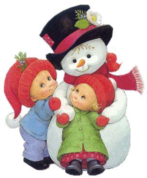 Ruth Morehead: Snowman and Children