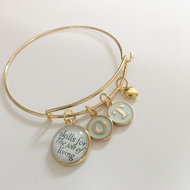 Occupational therapy bracelet/beautiful word phrase with oil drop letters