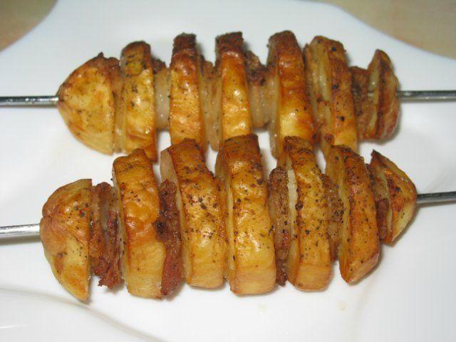 Картошка с салом в аэрогриле - Кулинария и кое-что еще